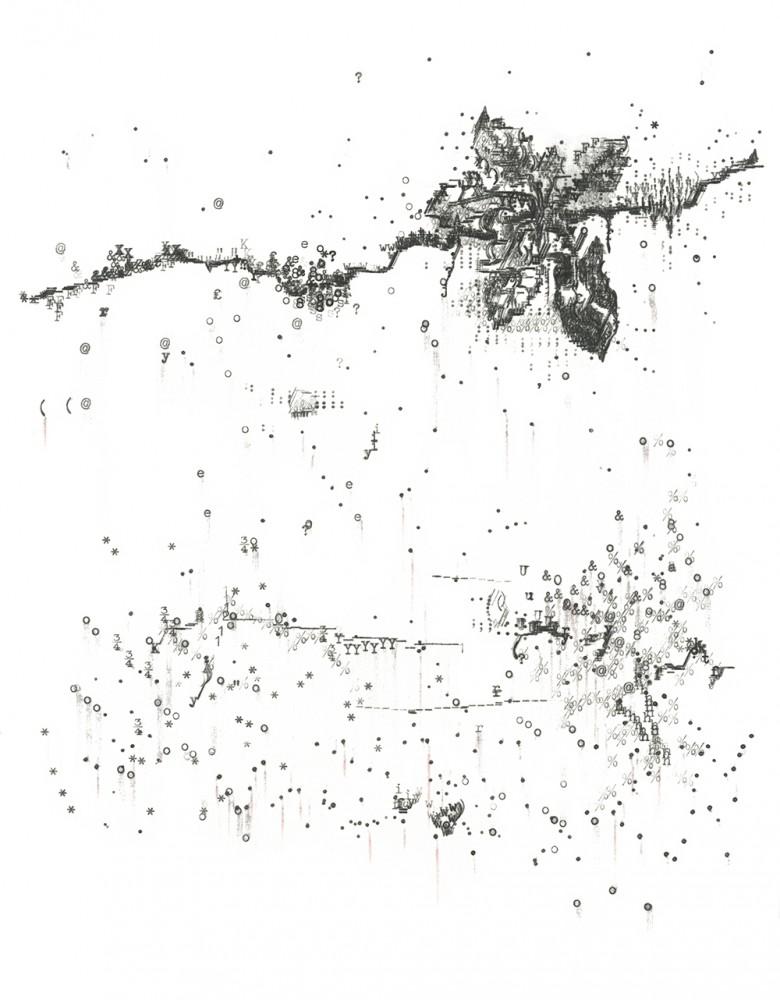 Keira Rathbone Typewriter Art - Limited Edition Print - Crack Plant 2 (Dirty White Wall)