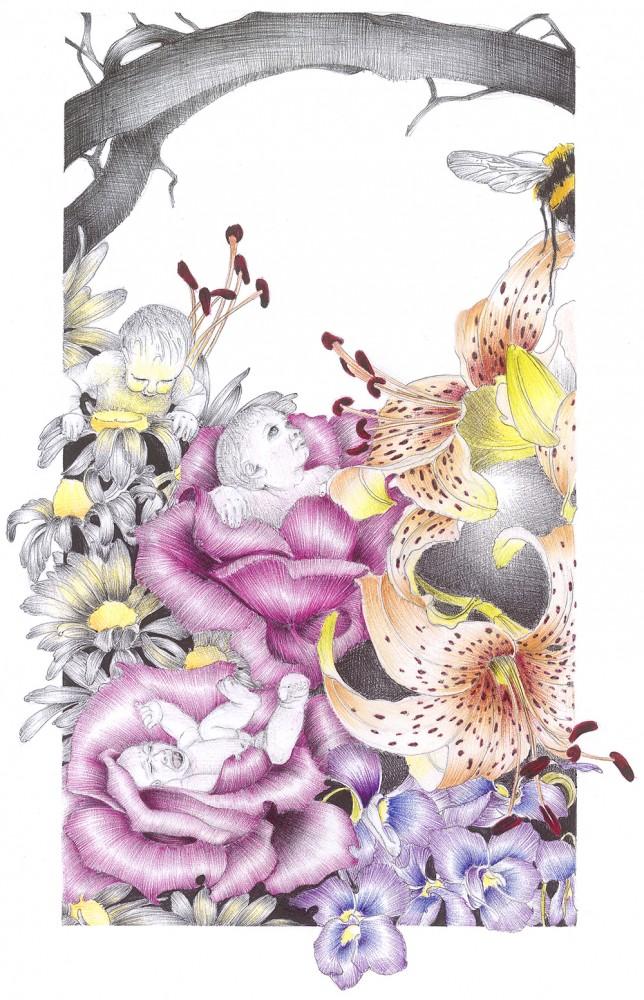 Wailing Rose Print