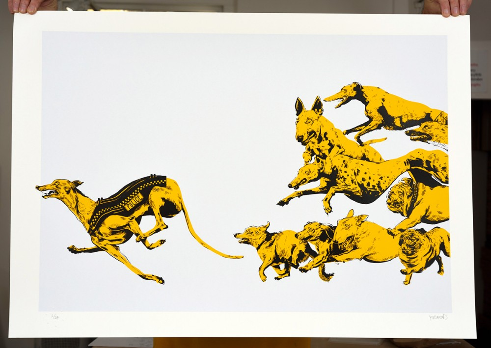 The Chase limited edition screenprint