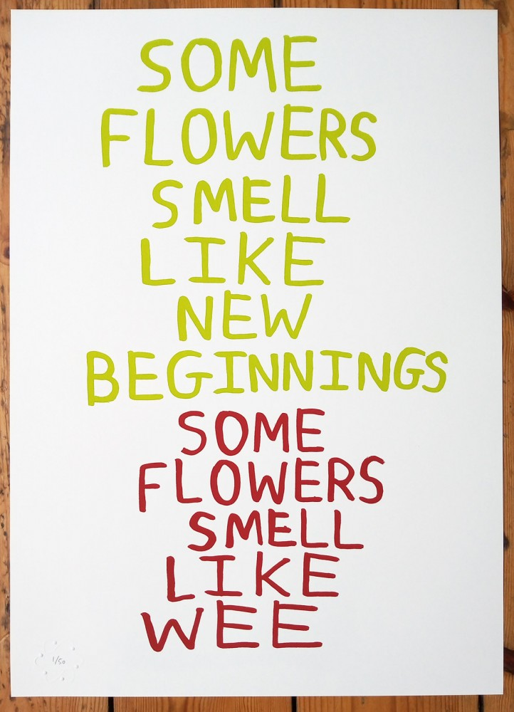 Some Flowers limited edition screenprint