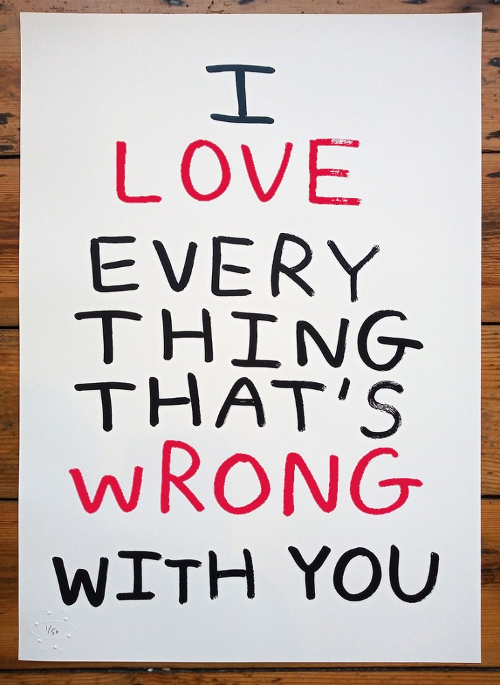 Everything That's Wrong limited edition screenprint
