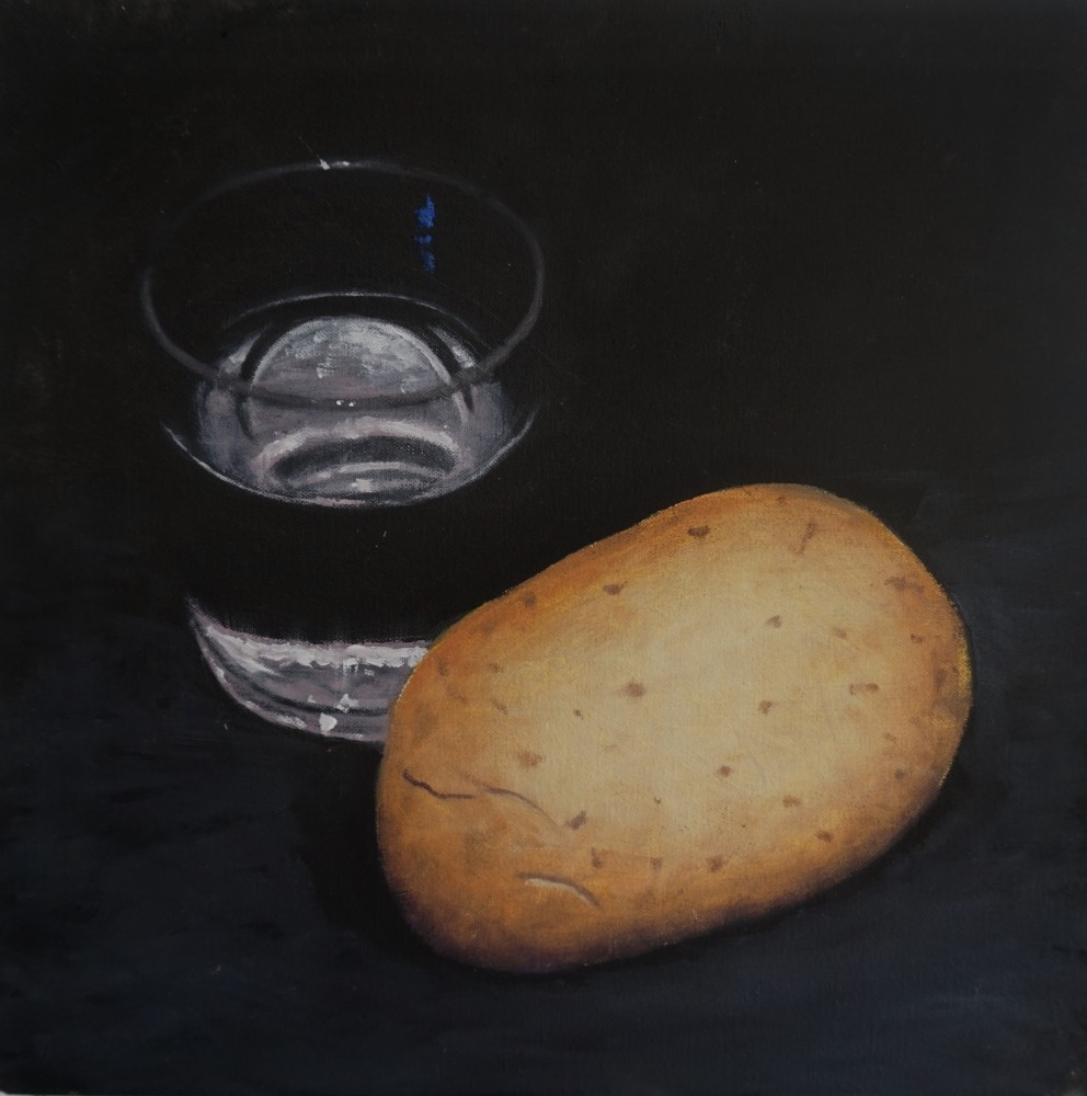 Potato and Glass of water