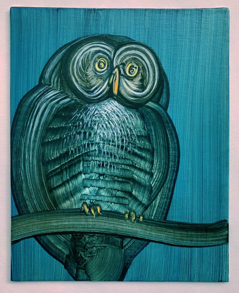 Owl 6- blue dreams