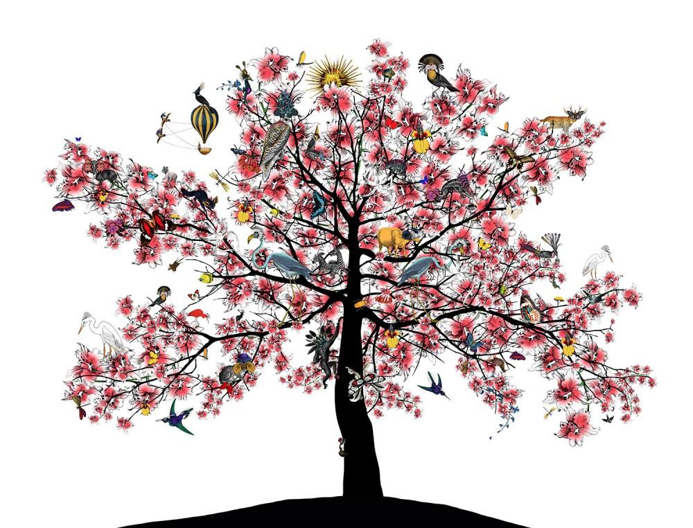 Bleika Sakura Candy Floss Tree - Art Print