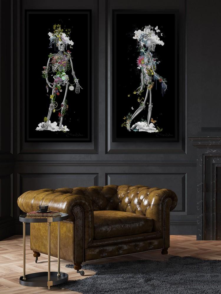 Black Skeleton - Art Print Collection