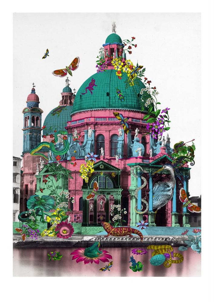 Reptilian Rosa Kirkja - Art Print