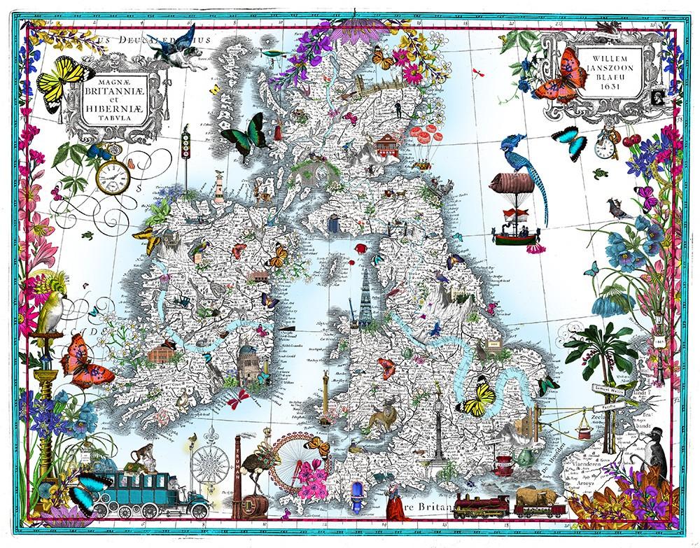 Taera Bretland - Blaeu British Isles - Art Print