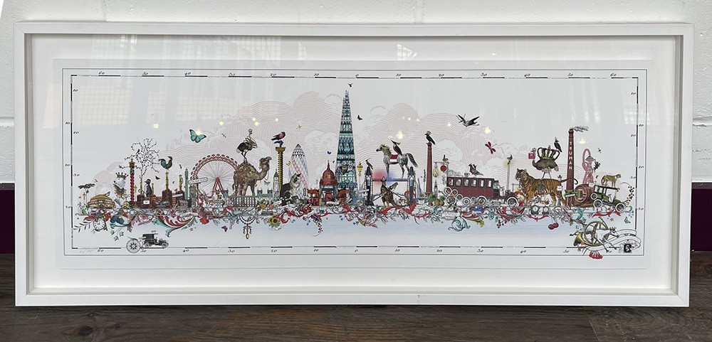 Industrial Shard Skyline - Art Print - Framed