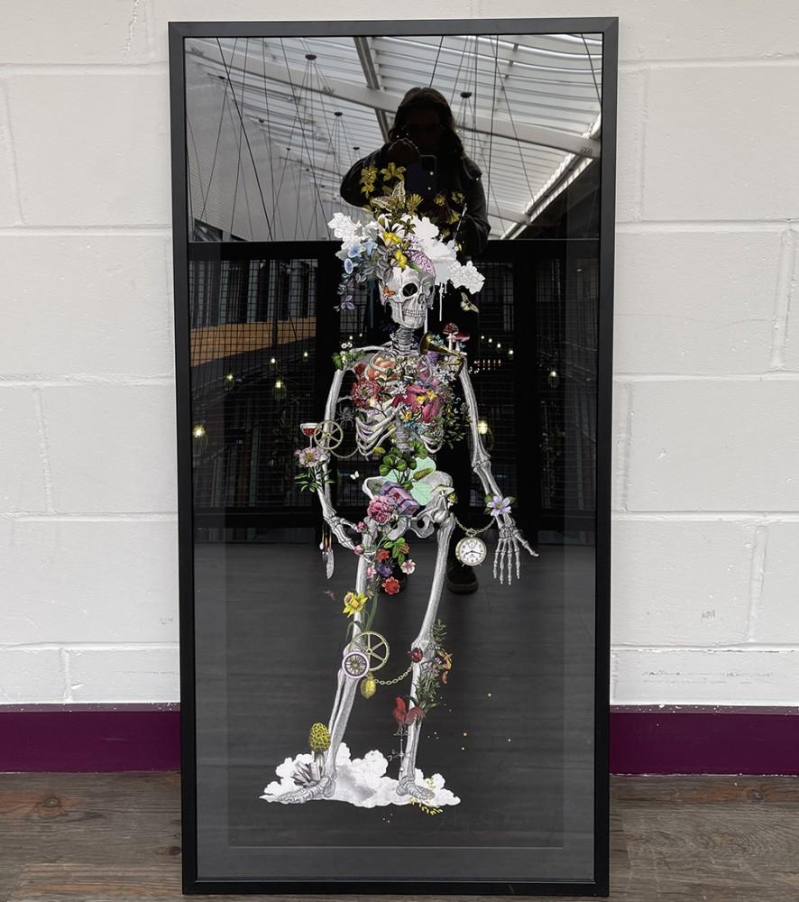 Ad Moldu Skaltu Verda - Still Skeleton Black - Art Print - L - Framed