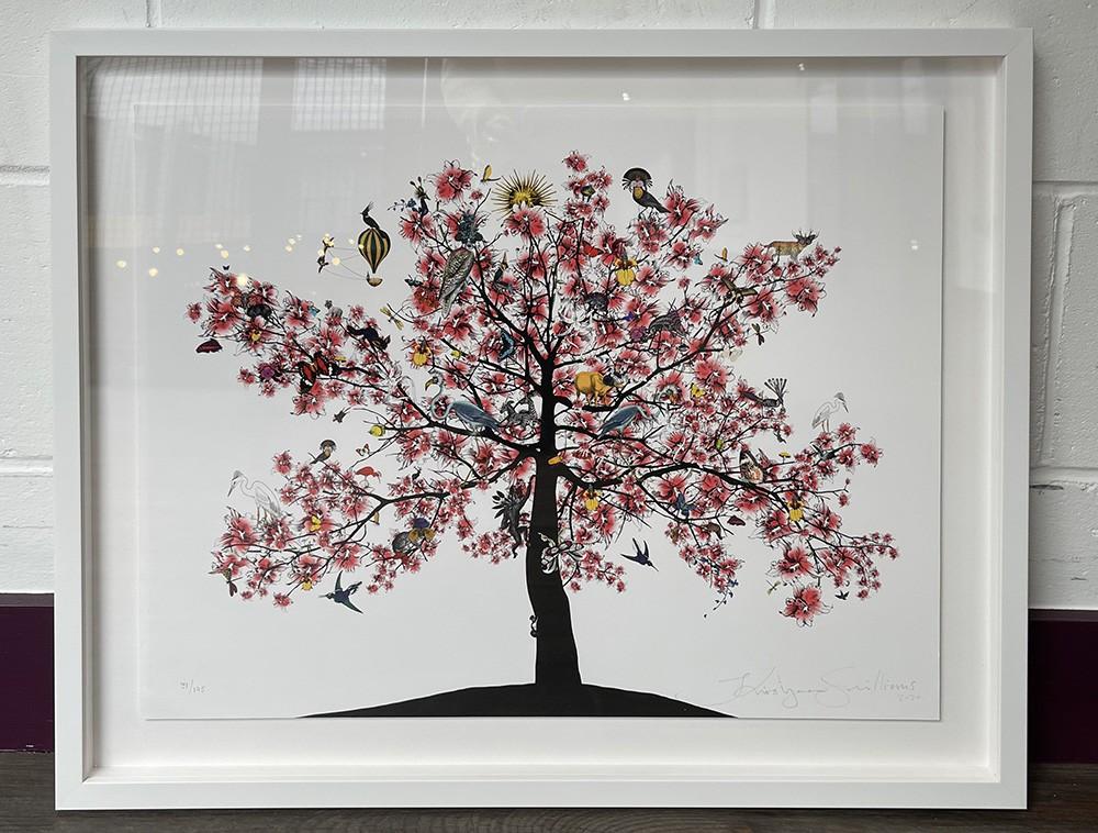 Bleika Sakura Candy Floss Tree - Art Print - Framed