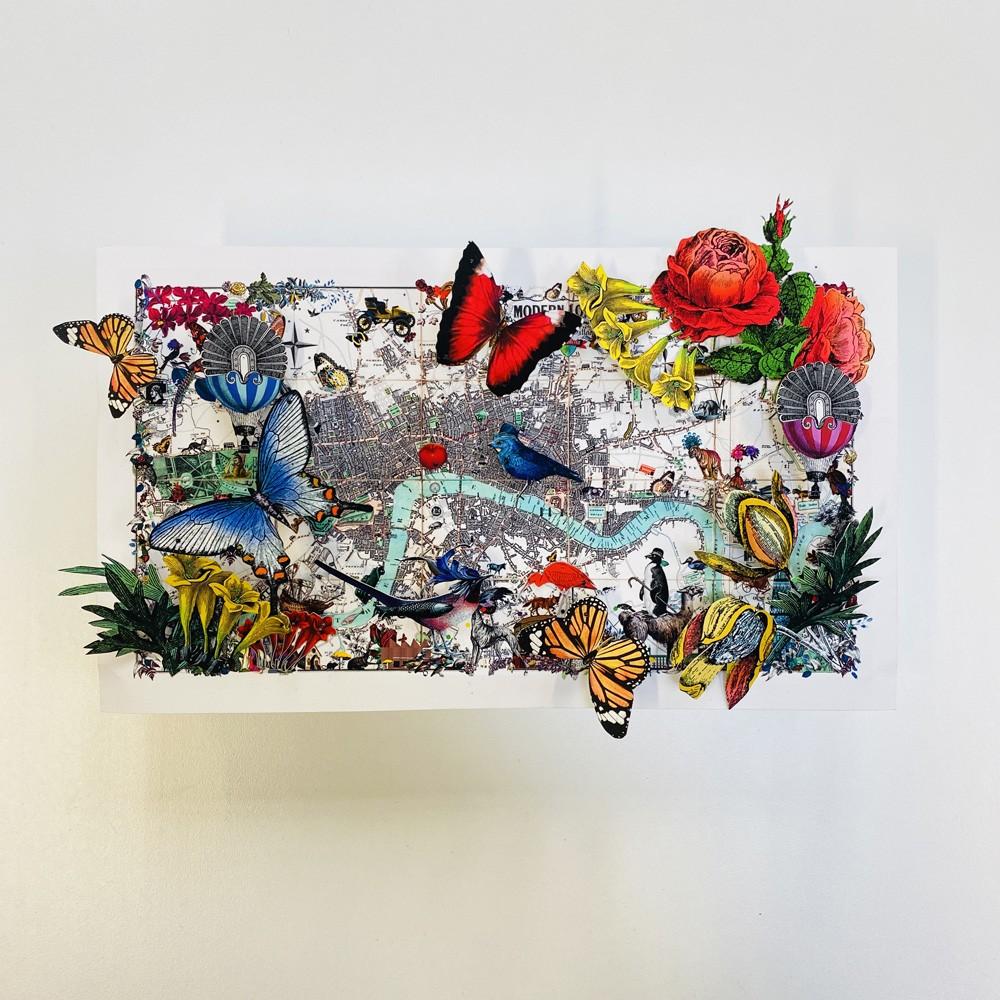 Miniature World Map Five - Original