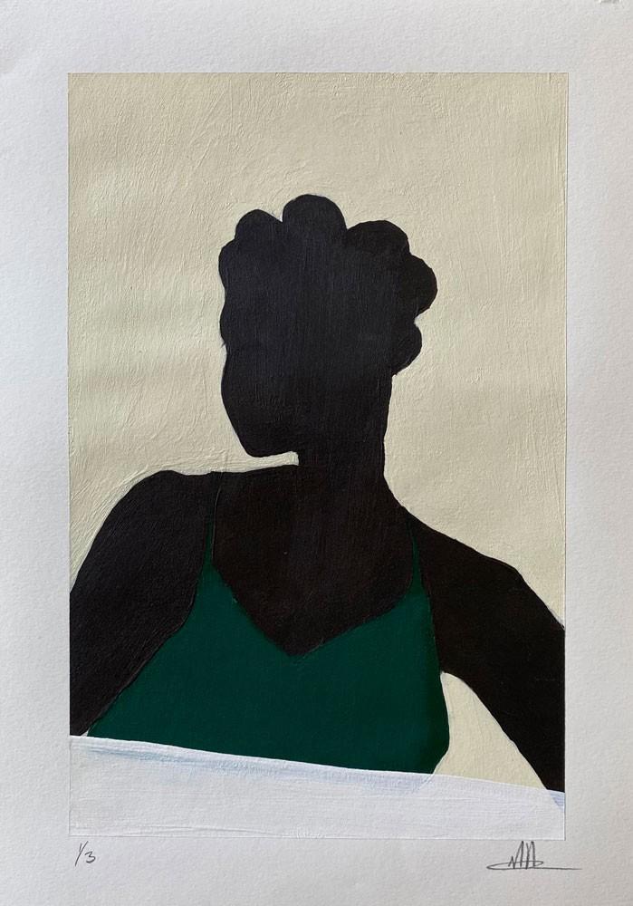 Black Female with Bantu Knots 1