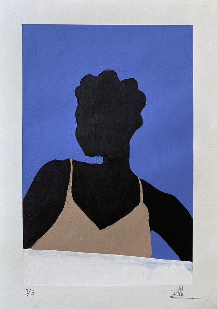 Black Female with Bantu Knots 3