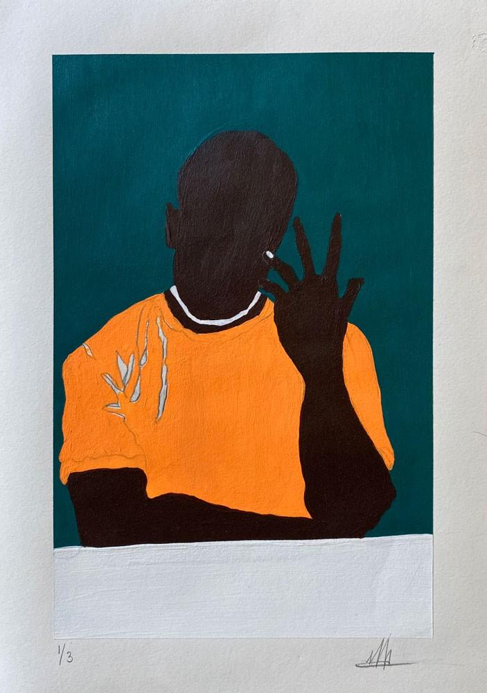 Black Man in Tee 1
