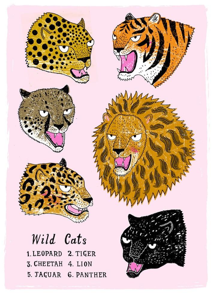 Wild Cat Wallchart