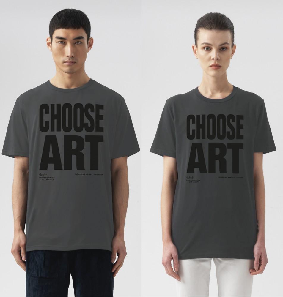 CHOOSE ART T-SHIRT - GREY