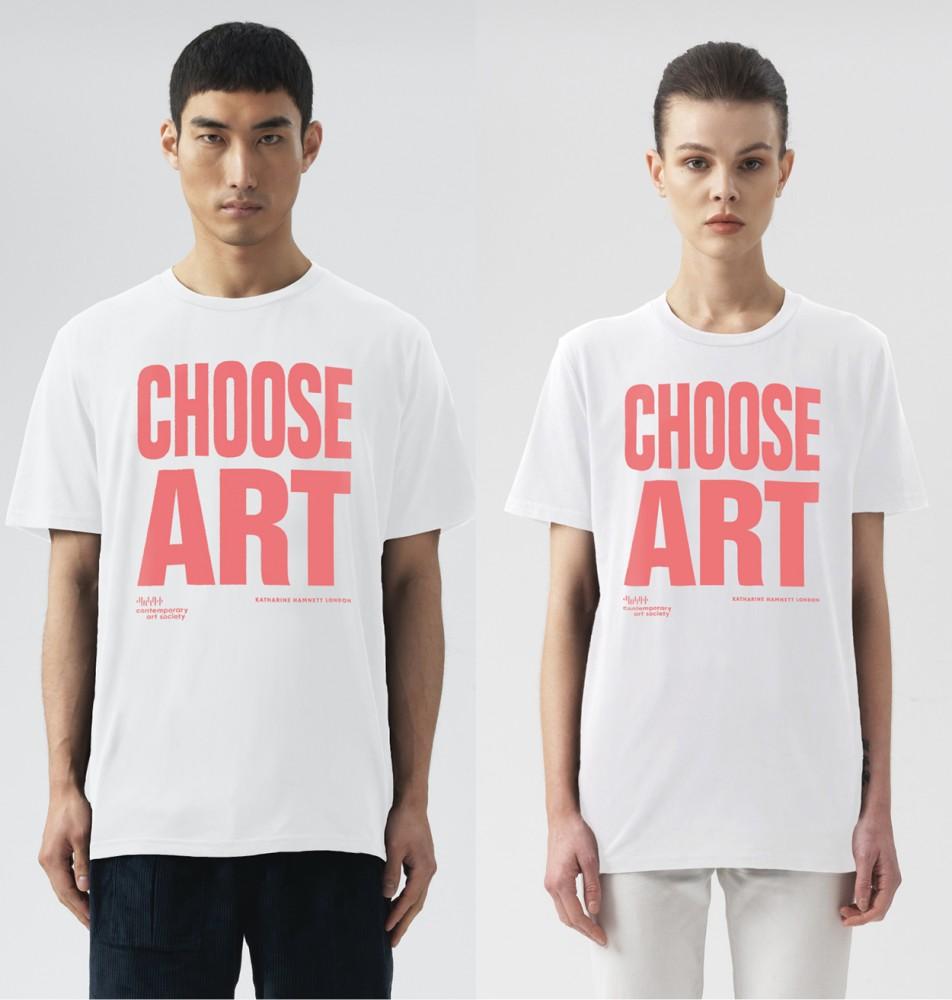 CHOOSE ART T-SHIRT - PEACH