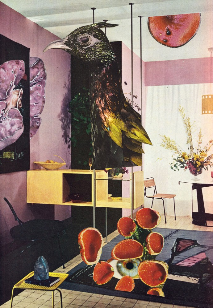 PROPOSED (REJECTED) INTERIOR DESIGN FOR THE PRIME MINISTER'S OFFICIAL RESIDENCE AT 10, DOWNING STREET SW1 2021 Original Collage 20x30.5cm