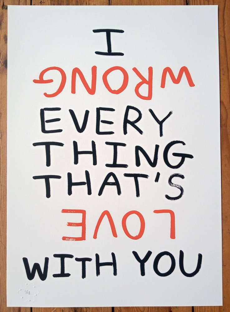 Everything That's Love (Happy Accident) special edition screenprint