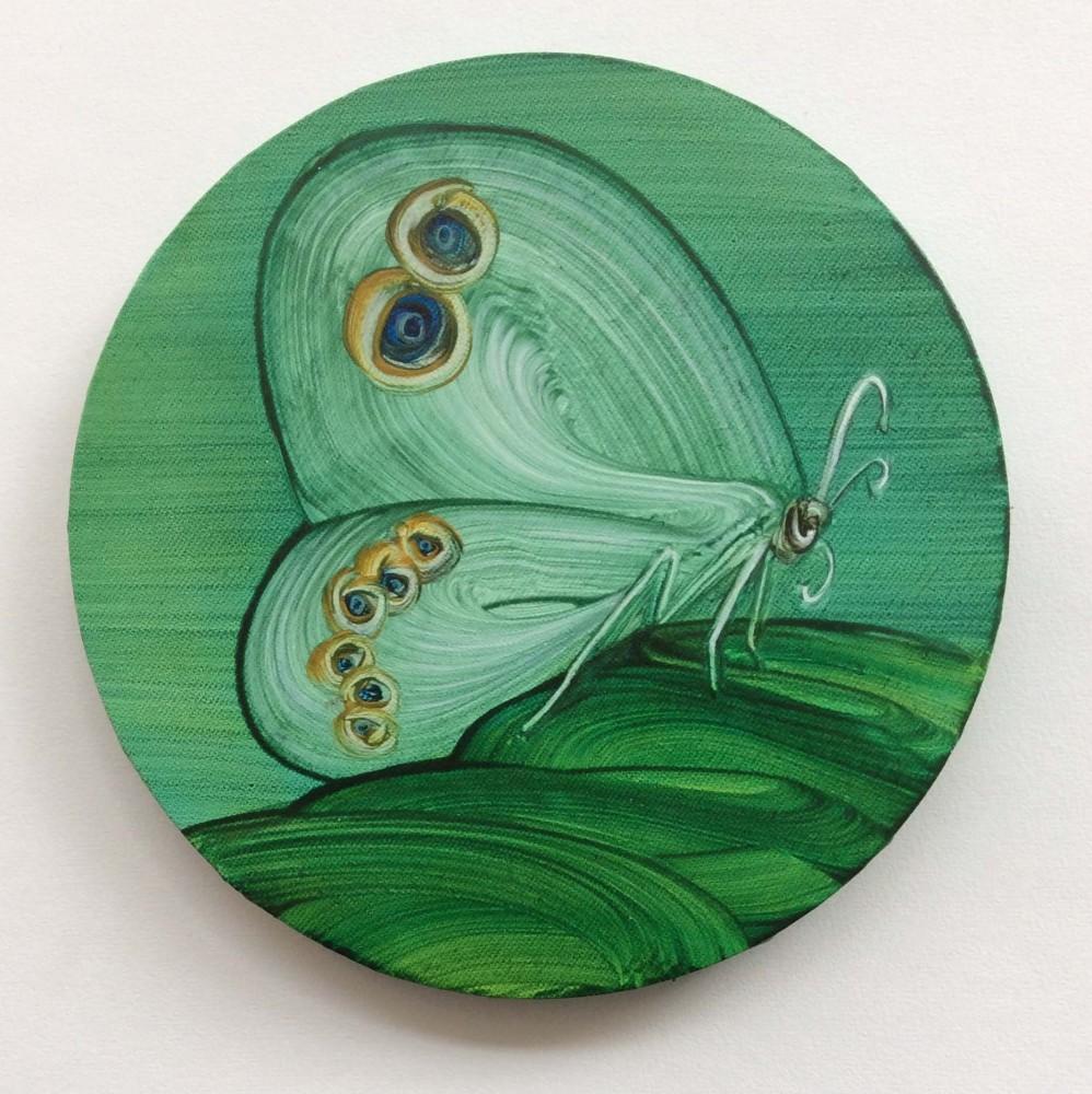 Butterfly tondo