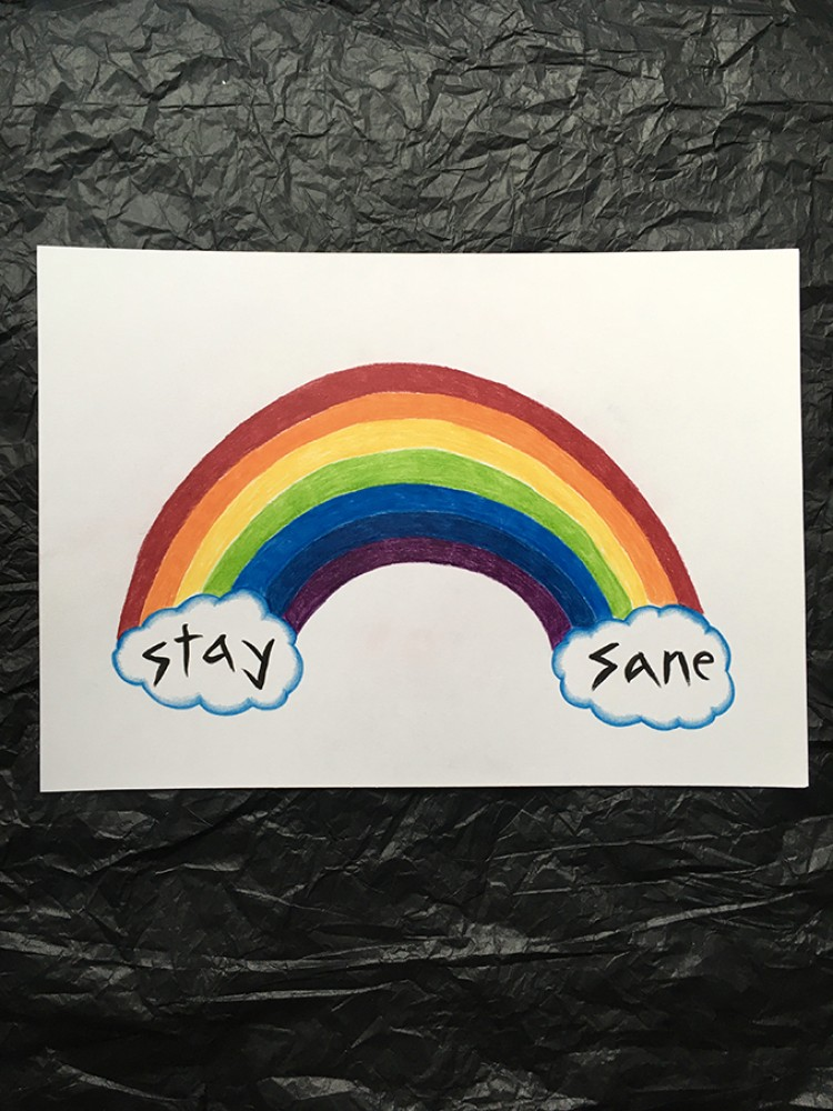 Stay Sane' A3 one-off drawing