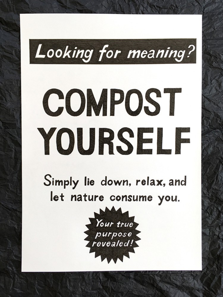 Compost Yourself' original A3 drawing