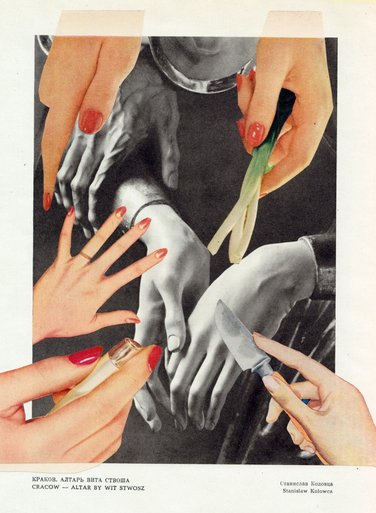 THE HAND IS A TOOL WITH WHICH MANY DEEDS MAY BE ACCOMPLISHED 2021 Original Collage 21.5x28cm