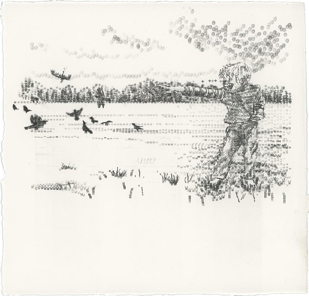 Keira Rathbone Typewriter Art - ORIGINAL Typic - Van Laughing at the Crows