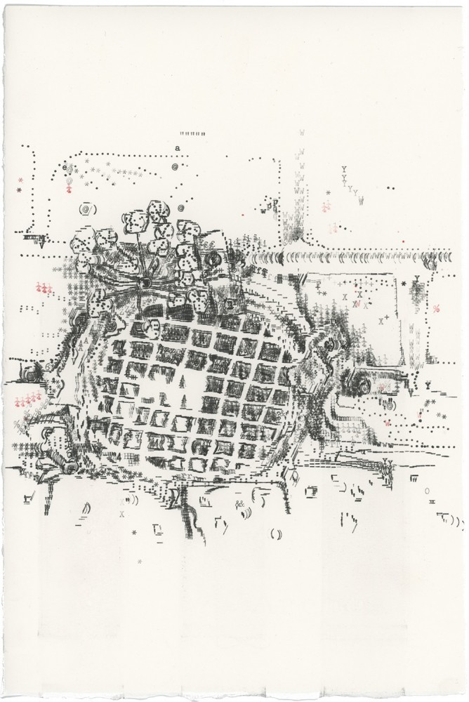 Keira Rathbone Typewriter Art - ORIGINAL Typic - CRACK PLANT 1 (VERTICAL DRAIN)