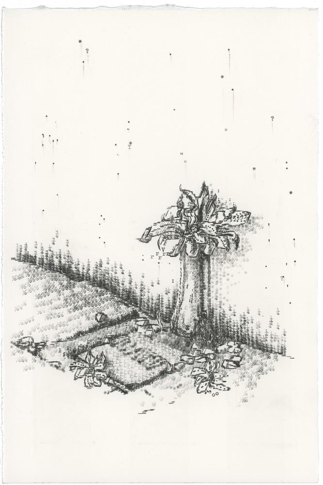 Keira Rathbone Typewriter Art - ORIGINAL Typic - CRACK PLANT 3 (Van's Pipe)