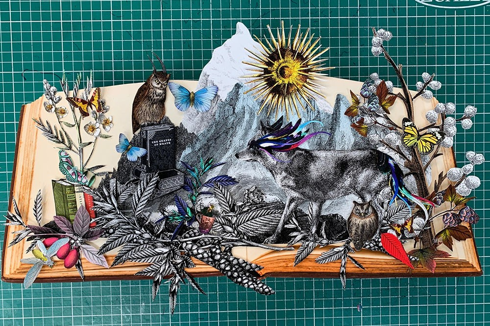 Reading The Mountains -  Wolves and Owls - Mini - Original