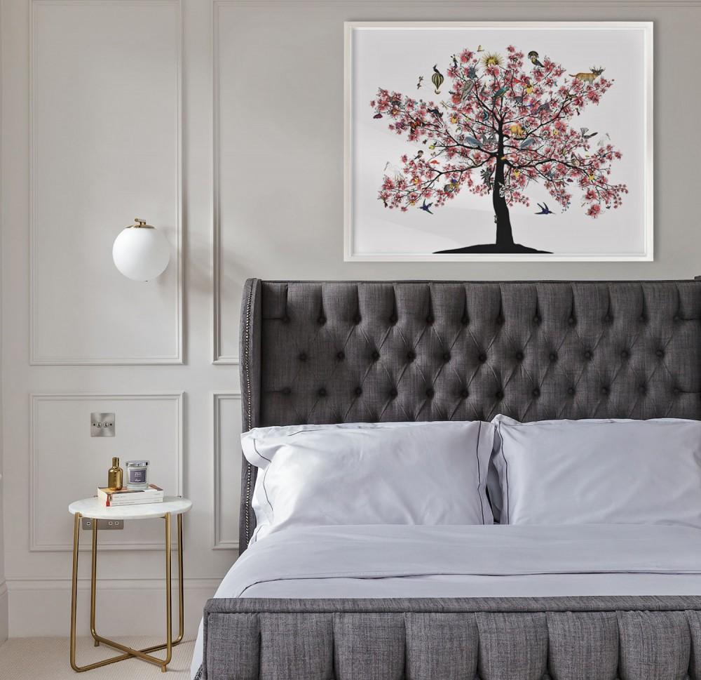 Bleika Sakura Candy Floss Tree - Art Print - S - unframed