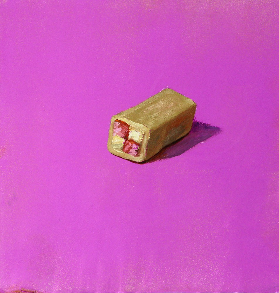 Mini Battenberg on Pink