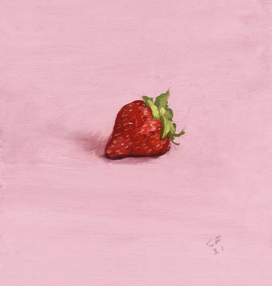 Strawberry on Pink Print 2021